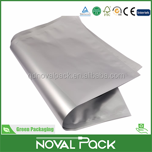 best selling aluminum foil plastic bag BOPP/CPP/PE composite flat opening bag used for food or meat