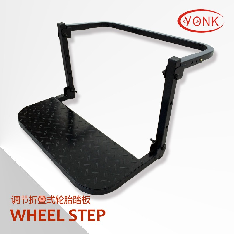 "Steel adjustable portable foldable 22"" Car Wheel Step ladder tyre tire step"