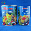 Brands canned fruit cocktail, different can size canned mixed fruits
