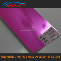 1.52*20m Size Good Stretchable Pink Matte Chrome Vinyl