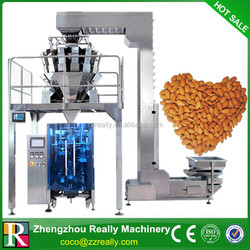 Vertical Form Fill Seal Almonds Packing Machine with Combination Multihead Weigher