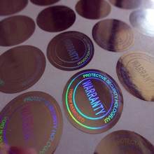 Custom Hologram Security Stick Label Printing For Certificate