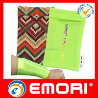 2015 New Product customized printing lycra cell phone wrist case