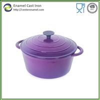 Porcelain casserole cast iron cookware saucepan enamel pot cookware cast iron stock pot colorful cookware