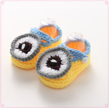Factory-direct Selling Crochet Cartoon Pattern Baby Shoes Handmade Knitted Baby Booties