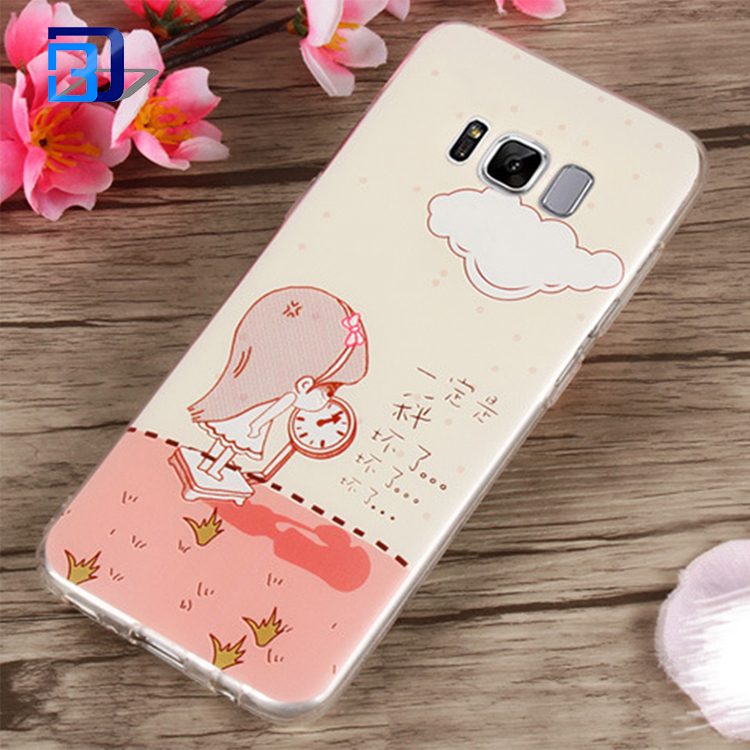 Factory Price Cell Phone Accessories Photo Patterned Printing Soft Flexible TPU Ultra Slim Case For Samsung Galaxy S8