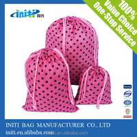 2015 Wholesale Eco friendly polyester bag or nylon drawstring backpack