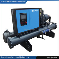 China supplier water cooled screw chiller for roller