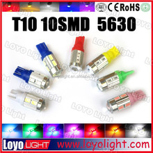 yellow car light T10 6smd 5630 samsung led auto lamp led car light bulb 12 volt
