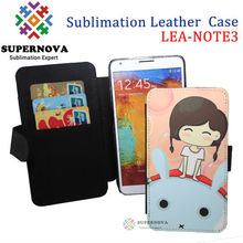 For Samsung Galaxy NOTE 3 Sublimation Leather Phone Cover
