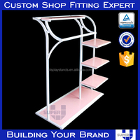 free standing rug display h rack towel display stand for sale