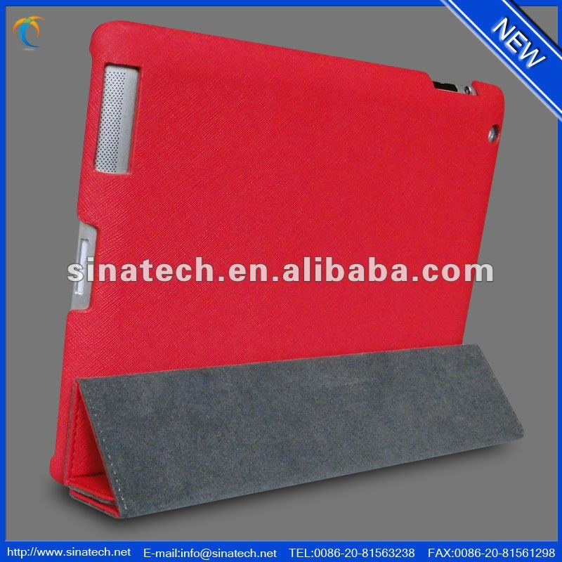 2014 Sinatech new design for ipad3 pu leather case pu leather case