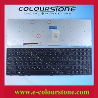 New For Lenovo Idea Pad Y580 RU Black Laptop keyboard with backlit with frame