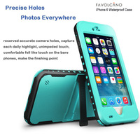 Waterproof Case for Iphone 6 Shockproof PVC Touch ID Protective Plastic Mobile phone Case Cover 4.7 inch Glass Blue