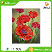 First Class Rhinestone Embroidery Painting Poppy Canvas Painting Oil Painting Supplies