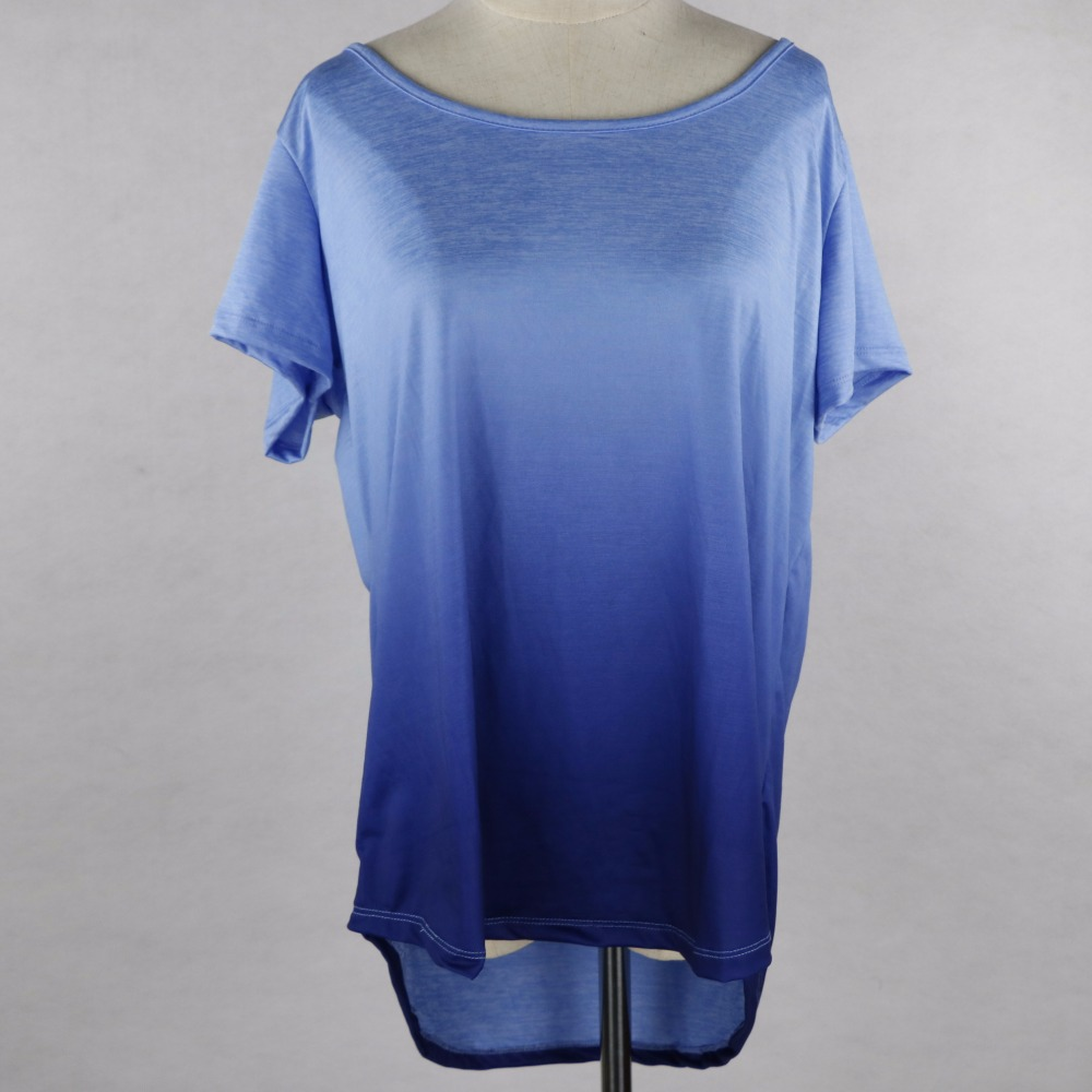 2017 O neck clothes women new ladies fashion dip dye new tops wholesale ladies kurti women t-shirts tank top
