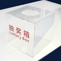 Customized high polished clear acrylic lottery box