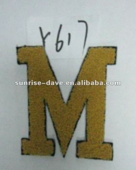 Embroidered letter applique patchesclothing appliquesew for Sew on letters for clothing