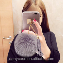 Wholesale high quality Luxury Rabbit Fur Furry Warm Case Cover For Mobile Phones