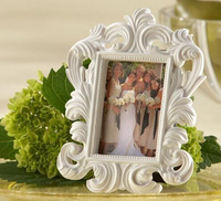 White Baroque photo frame wedding dress photo picture frame