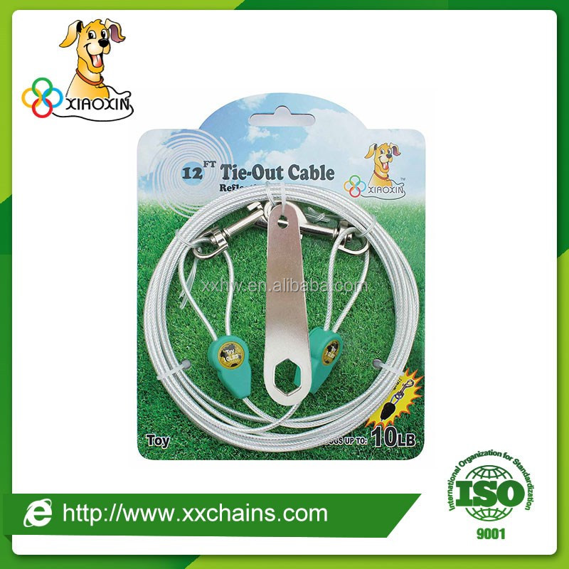 Pet product, dog tie-out cable, reflective pet dog tie-out cable