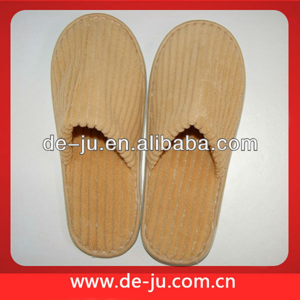 Closed Toe Wholesale Coral Fleece Hotel Slippers