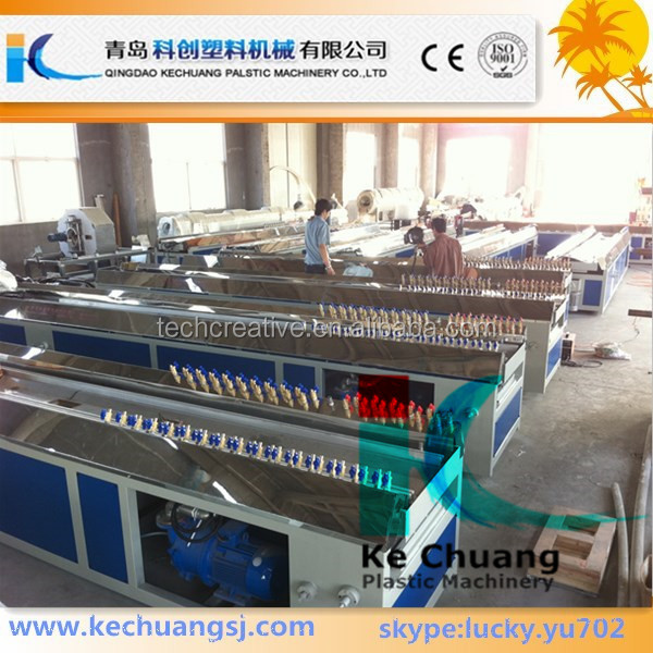 Plastic pvc profile extruder machine to make window panel