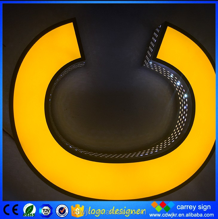 Commercial advertising taxi large full color 3d led letter logo outdoor