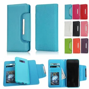 Cheap price Sky blue removable leather flip phone case for samsung s7 s7 edge
