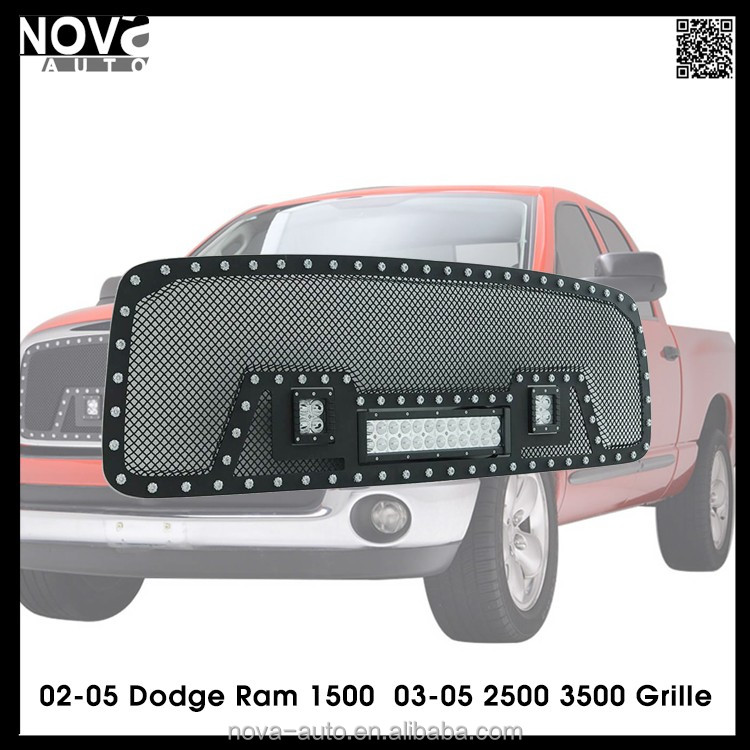 Custom China car grille , black steel wire mesh grille