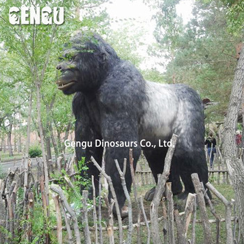Animatronic large animal statues--gorilla