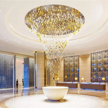 Modern fashion handmade art large hotel ceiling decor blown glass pendant lighting