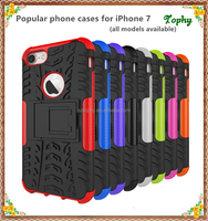 Cell Phone Case Protective Back Cover Durable Shockproof Rubber Armor Kickstand Hard Stand For iphone 6 7 7 plus