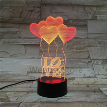 Portable USB Colorful Touch switch lights balloon shape table lamp rechargeable night light