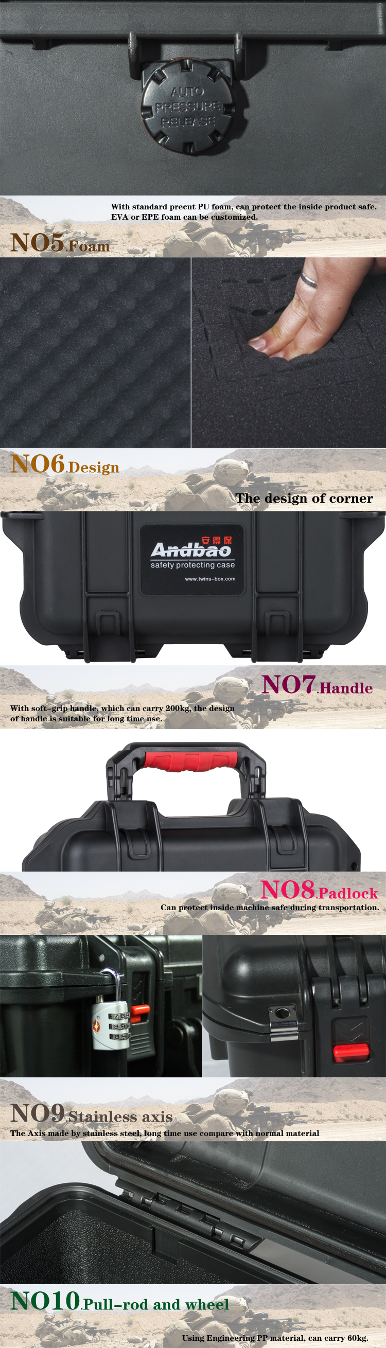 Hard instrument carrying case