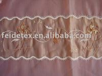 3D Flower bridal embroidered organza lace fabric wholesale China supplier