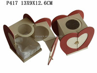 Special Design Perfume Gift Paper Packaging box Wholesale with Heart Shape door P417