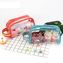 Non-toxic eco-friendly colorful cute printing clear PVC plastic toy packaging bag for kids