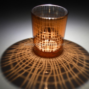 Laser Engraving Glass Candle Holders