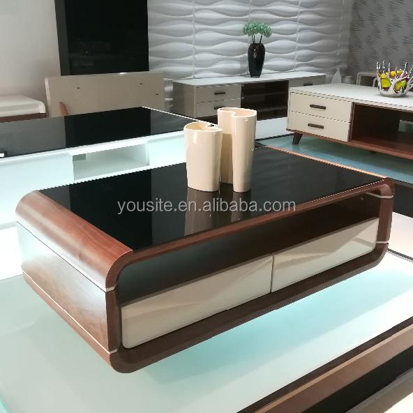 Modern Rectangular Black Glass Top Center Table Design   Buy Glass Top Center  Table Design,Modern Design Glass Tea Table,Glass Centre Table Designs  Product ...