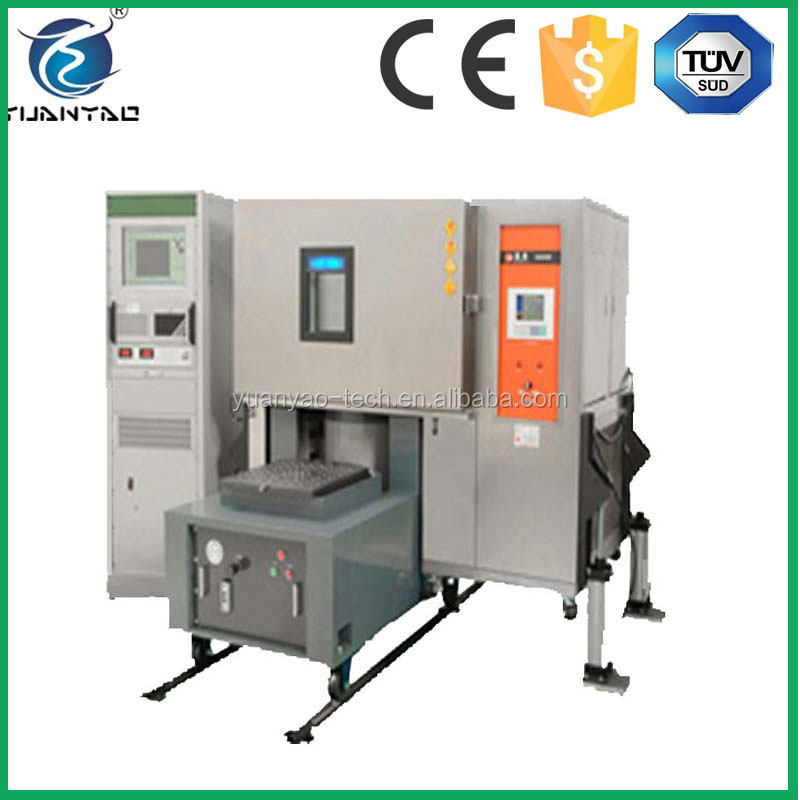 Climate and vibration test chamber with LCD touch screen controller