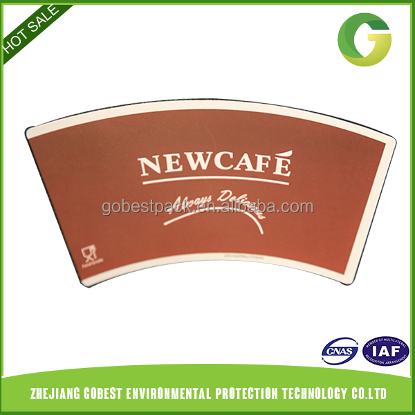 Wholesale Promotional Prices Printed Paper Cup Fan