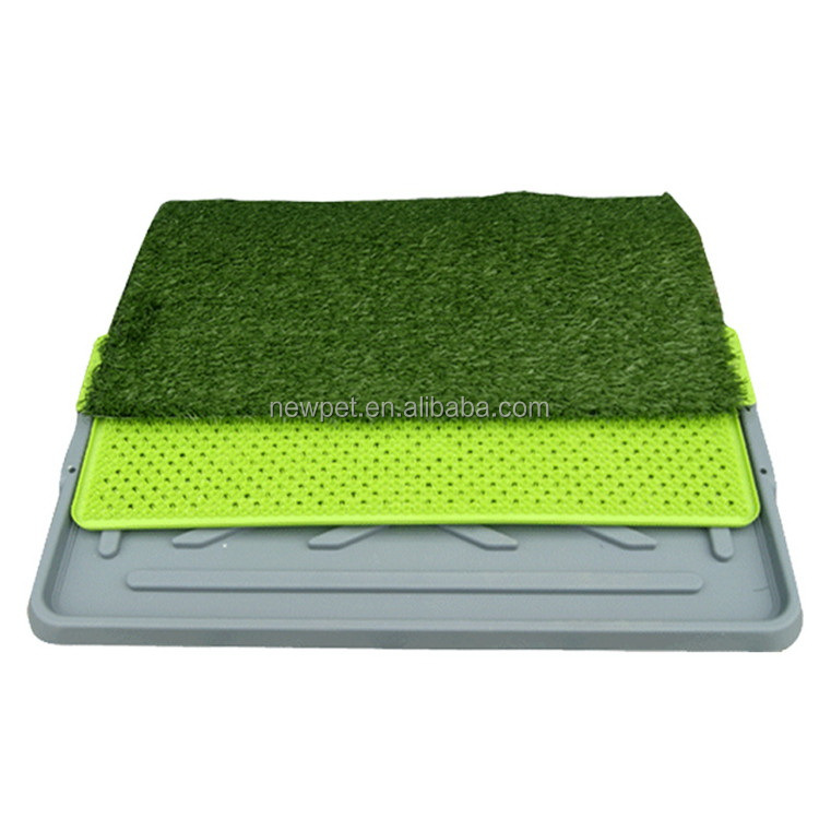 Premium quality elegantly designed three layers dog training grass mat pets toilets