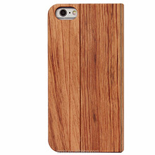 HOT Genuine Wooden walnut Products Leather Case Skin Flip Cover Wood Case for iPhone 6
