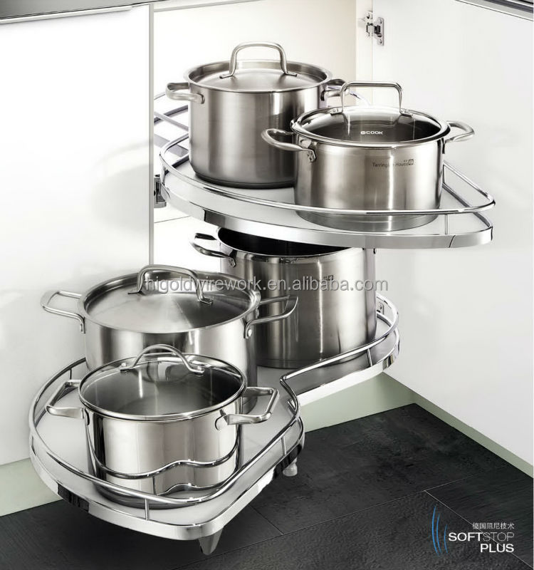 Swing tray High Quality Factory Made Magic corner Complete Drawer System