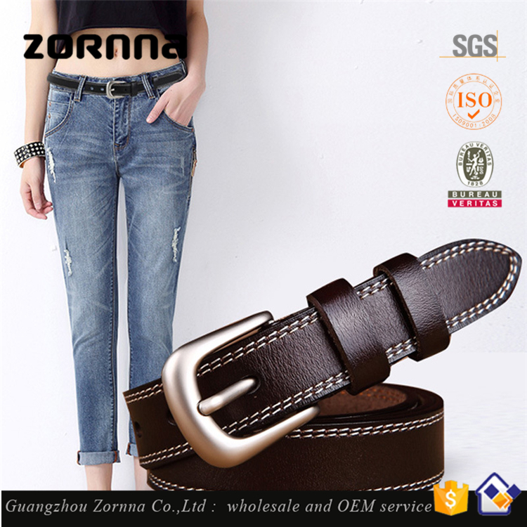 Embossed Pattern Chinese Style Hot Design Women Style Custom Genuine Leather Woman Belt