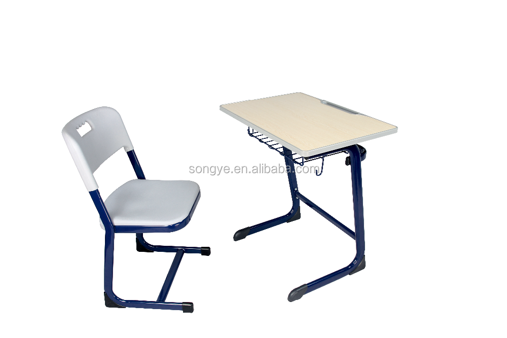 SONGYE Commercial Furniture General Use school clasroom furniture , mid-east hot sale moden design, single desk and pp chair