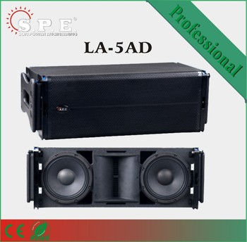 "dual 10"" 600W active professional line array system, stage line array China"