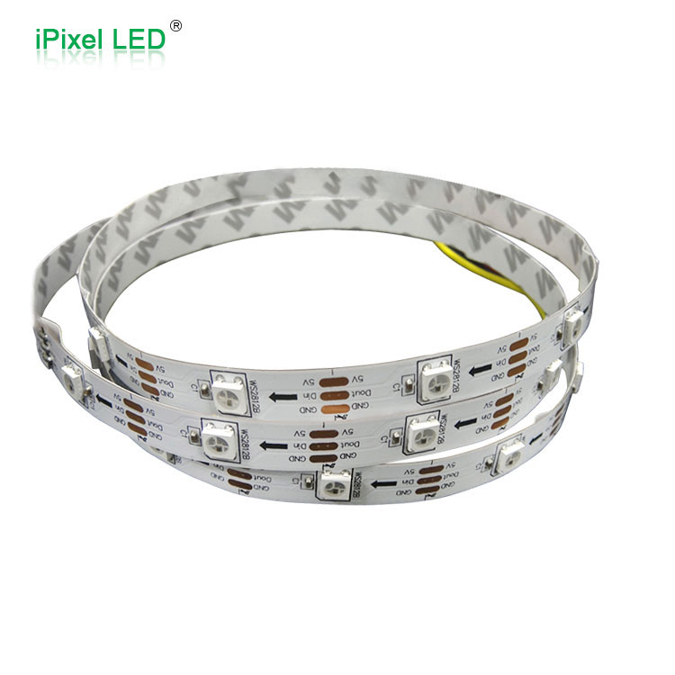 iPixel LED high quality WS2812B Addressable LED Strip 30leds/<strong>m</strong>,white PCB,IP20