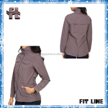 Woven Nylon Windproof Durable Womens Blank Cargo Jacket